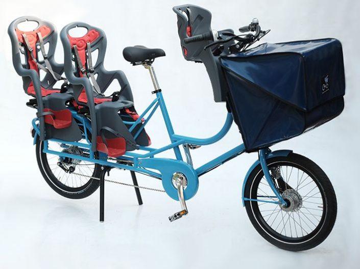 Bicicapace Justlong mit Kindersitzen