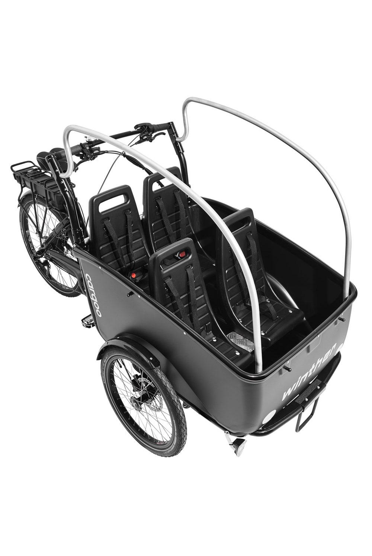 Winther Cargoo Promovec 4 Sitzer schwarz - ohne Dach topview
