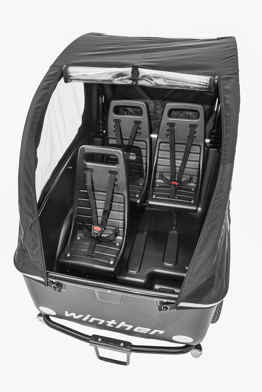 Winther Cargoo 3 Sitzer schwarz topview
