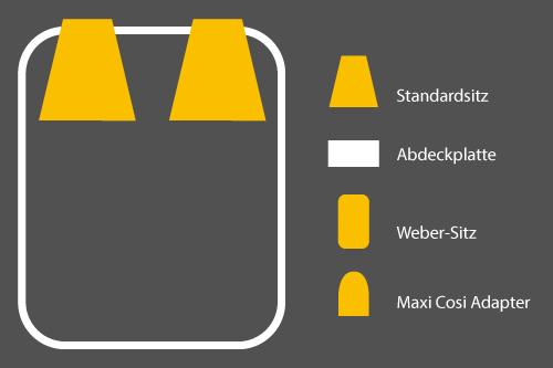 Winther Cargoo Sitzkonfigurationen - 2 Standardsitze