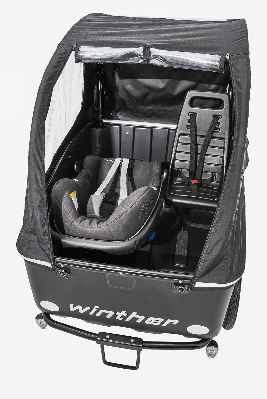 Winther Cargoo Maxi cosi Adaptor + 1 Standardsitz topview