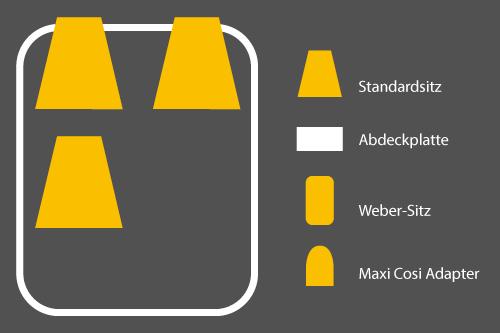 Winther Cargoo Sitzkonfigurationen - 3 Standardsitze