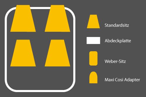 Winther Cargoo Sitzkonfigurationen - 4 Standardsitze